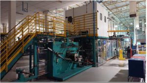 Adult diaper machine with underpad production from Fameccanica